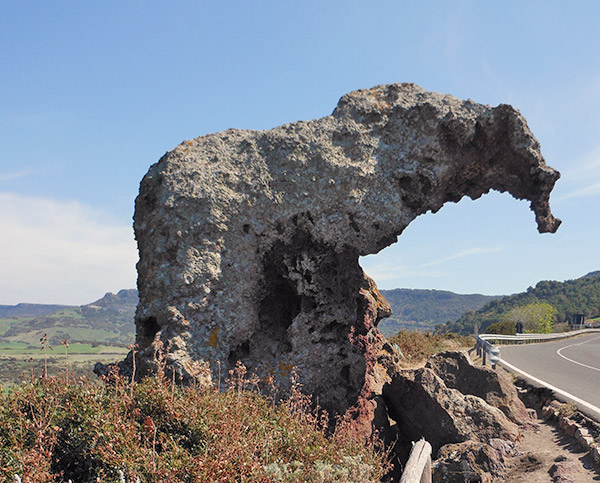 castelsardo sardinia elephant rock