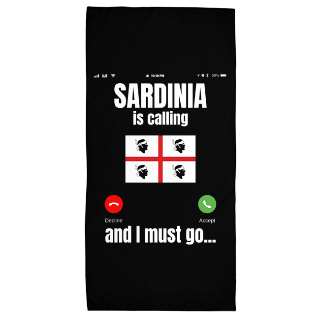 sardinia is calling flag towel