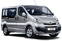 Opel Vivaro for rent is sardinia with zero excess